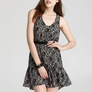 Joie Lace Printed Sleeveless Dress Ori Savory Silk